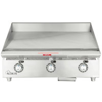 Star 836TA Ultra Max 36 inch Countertop Gas Griddle with Snap Action Controls - 90,000 BTU