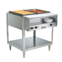 Vollrath 38102 ServeWell Electric Two Pan Hot Food Table 120V - Sealed Well