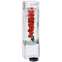Cal-Mil 1112-3INF 3 Gallon Square Glass Beverage Dispenser with Infusion Chamber