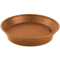 Tablecraft 157510TC 10 1/2 inch Terra Cotta Plastic Diner Platter / Fast Food Basket with Base - 12 / Pack