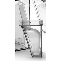 Cal Mil 356 Wall Mount Scoop Holder with Scoop and Drip Tray 32 oz.