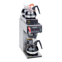 Bunn CWTF15-3 Automatic 12 Cup Coffee Brewer with 2 Upper and 1 Lower Warmer - Plastic Funnel 120V (Bunn 12950.0213)