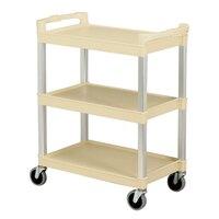 Continental 5810BE Beige Three Shelf Utility Cart - 16 inch x 31 inch x 36 inch