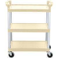 Continental 5810BE 16 inch x 31 inch x 36 inch Beige Three Shelf Utility Cart