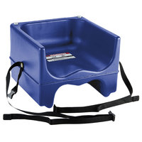 Cambro 200BCS186 Plastic Booster Seat - Dual Seat with Strap - Navy Blue