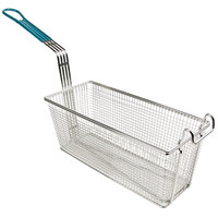 13 1/4 inch x 5 1/2 inch x 5 11/16 inch Fryer Basket with Front Hook