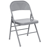 Gray Metal Folding Chair