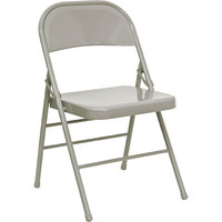 Gray Metal Folding Chair