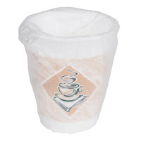 Dart Solo 10X10GWRAP 10 oz. Cafe G Hotel and Motel Individually Wrapped Foam Hot Cup - 900/Case