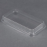 D&W Fine Pack 37564 Clear Dome Lid for 1 1/2 lb. Aluminum Foil Loaf Pan - 500 / Case