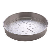 American Metalcraft T4008SP 8 inch Super Perforated Straight Sided Pizza Pan - Tin-Plated Steel