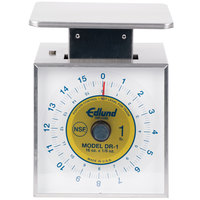 Edlund DR-1 Deluxe 16 oz. Portion Scale with 6 inch x 6 3/4 inch Platform