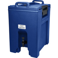 Cambro UC1000186 Ultra Camtainer 10.5 Gallon Navy Blue Insulated Beverage Dispenser