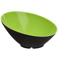 GET B-788-G/BK Brasilia 16 oz. Green and Black Melamine Bowl 6 / Case