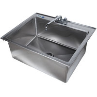 Regency 16 Gauge Drop In Stainless Steel Sink with 12 inch Faucet - 28 inch x 20 inch x 12 inch Bowl