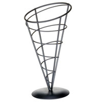 Tablecraft AC59 Vertigo Round Appetizer Wire Cone Basket - 5 inch x 9 inch