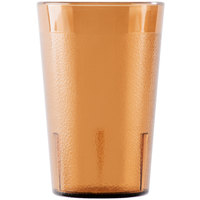 Cambro 800P2153 Colorware 7.8 oz. Amber Plastic Tumbler - 24/Case