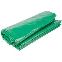 45 Gallon Recycled 1.25 Mil 40 inch X 46 inch Low Density Trash Can Liner / Bag - 100 / Case