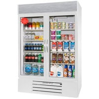 Beverage Air MMR49-1-W-LED White Marketmax Refrigerated 2 Glass Door Merchandiser with LED Lighting - 49 Cu. Ft.