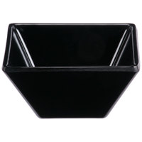 GET ML-257-BK Siciliano 3 oz. Black Melamine 3 inch Square Petite Bowl   - 48/Case