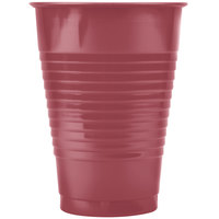 Creative Converting 28312271 12 oz. Burgundy Plastic Cup - 20/Pack