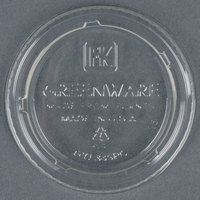 Fabri-Kal Greenware GXL345PC 3.25-4 oz. Compostable Clear Plastic Souffle / Portion Cup Lid - 2000 / Case