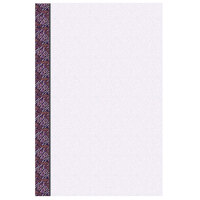 8 1/2 inch x 14 inch Menu Paper Left Insert - Purple Woven Border - 100/Pack