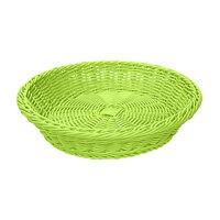 GET WB-1502-G 11 1/2 inch x 2 3/4 inch Designer Polyweave Green Round Basket - 12 / Case