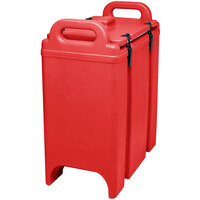 Cambro 350LCD158 Hot Red 3.375 Gallon Camtainer Insulated Soup Carrier