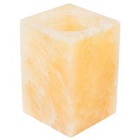 Sterno Products 80230 3 1/2 inch Alabaster Square Liquid Candle Holder