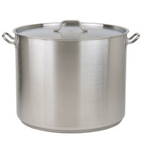 80 Qt. Heavy-Duty Stainless Steel Stock Pot with Cover