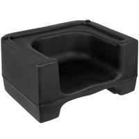Carlisle 7110003 Black Plastic Booster Seat - Dual Seat