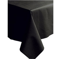 Hoffmaster 220836 50 inch x 108 inch Linen-Like Black Table Cover - 20 / Case