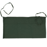 Choice 24 inch x 12 inch Hunter Green Front of the House Waist Apron