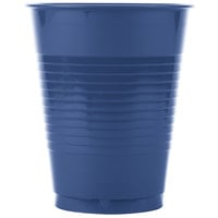 Creative Converting 28113781 16 oz. Navy Blue Plastic Cup - 20/Pack
