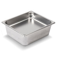 Vollrath Super Pan V 30262 1/2 Size Anti-Jam Stainless Steel Steam Table / Hotel Pan - 6 inch Deep