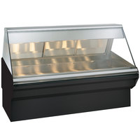 Alto-Shaam EC2SYS-72/PR BK Black Heated Display Case with Angled Glass and Base - Right Self Service 72 inch
