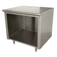 Advance Tabco EB-SS-243 24 inch x 36 inch 14 Gauge Open Front Cabinet Base Work Table