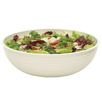 Cambro RSB18CW148 20.2 Qt. White Camwear Round Ribbed Bowl