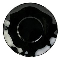 6 1/2 inch Black Pearl Saucer - 12/Pack