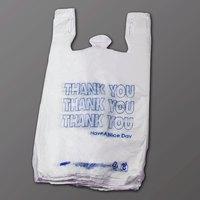 1/6 Size White Thank You T-Shirt Bag - 1000 / Case