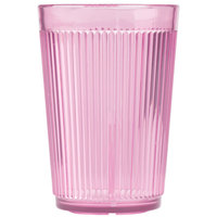 Carlisle 400855 Rose Crystalon SAN Tumbler 8 oz. - 12/Case
