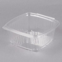 Genpak AD64 8 inch x 8 1/2 inch x 3 1/4 inch 2 Qt. Clear Hinged Deli Container - 200/Case