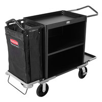 Rubbermaid FG9T6300BLA Deluxe High Capacity Housekeeping Cart