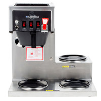 Bloomfield 8572D3F Koffee King 3 Warmer Right Stepped Automatic Coffee Brewer - 120V