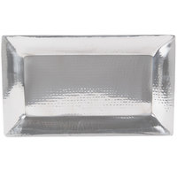 American Metalcraft HMRT1322 22 inch x 13 inch Hammered Stainless Steel Serving Tray