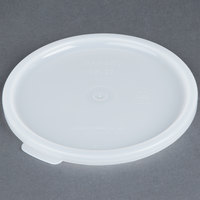 Cambro CPL27148 Replacement White Crock Lid for Cambro 1.5 and 2.7 Qt. Solid Color Crocks - 12/Case