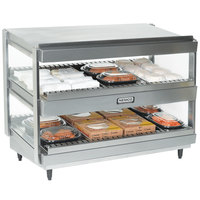 Nemco 6480-30S Stainless Steel 30 inch Slanted Double Shelf Merchandiser - 120V