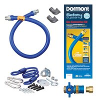 36 inch Dormont 1675KITCF SafetyQuik Gas Appliance Connector Kit - 3/4 inch Diameter