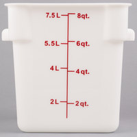 8 Qt. White Square Food Storage Container